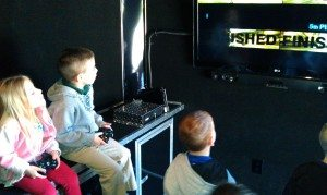 mobile video gaming theater interior