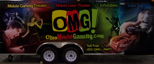 mobile video gaming theater rental party