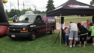 promo booth in canton @ kids day