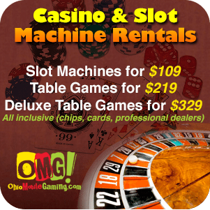 casino rentals slot machines cleveland oh