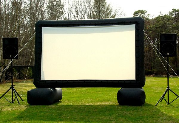 small outdoor movie